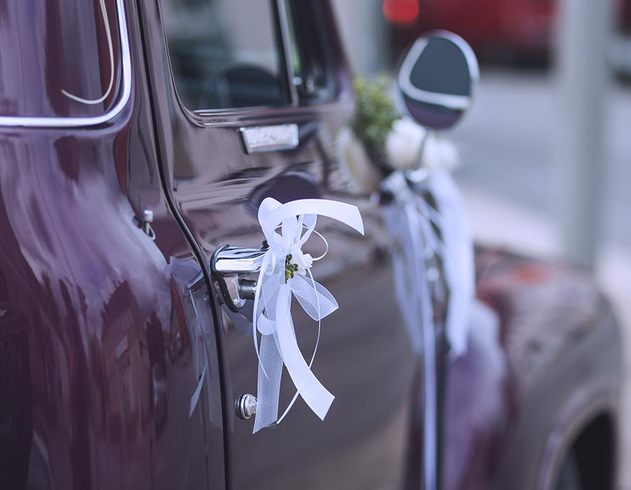 Details der Hochzeitsdekoration